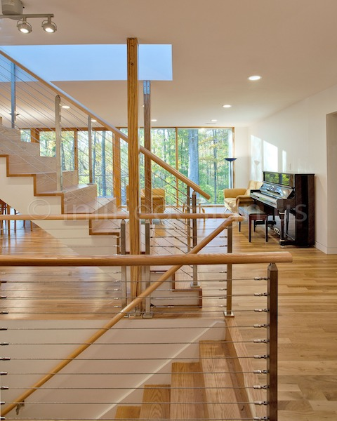 stainless steel railing cable stairs indoor