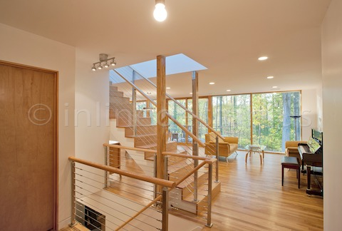 stainless steel railing cable stairs residential