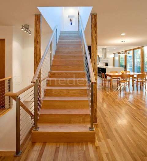 stainless steel railing cable stairs