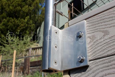 corner flange post