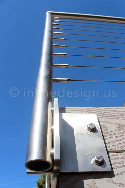 corner perspective view railing