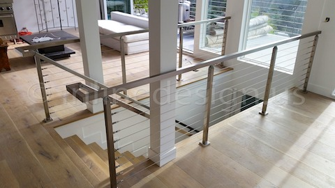 stainless steel railing cable balcony