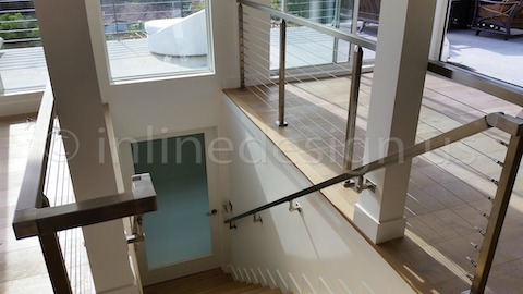 stainless steel railing cable construction