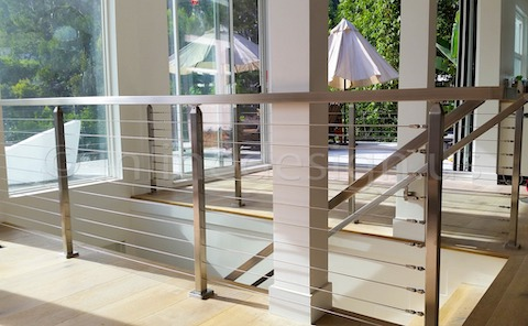 stainless steel railing cable modern