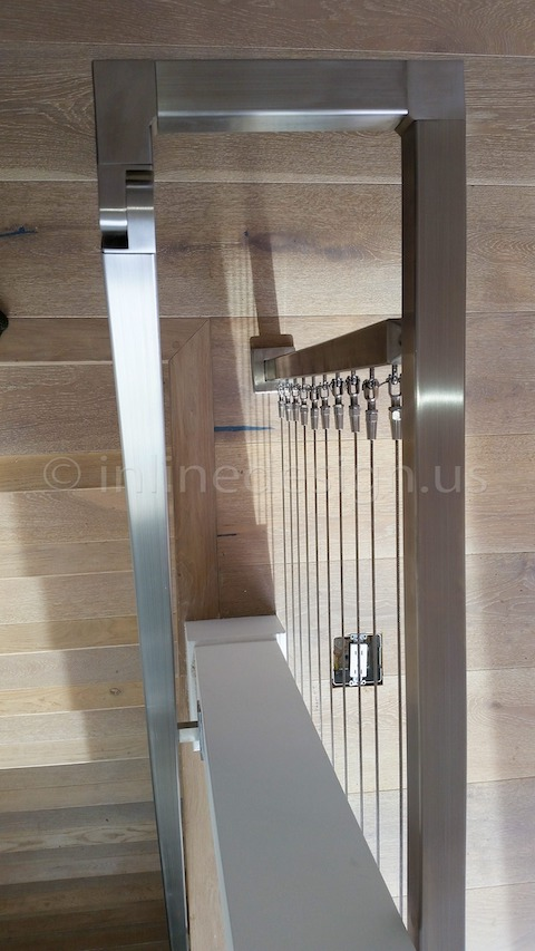 stainless steel railing cable top
