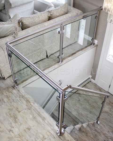stainless steel Virginia Round Glass Railing