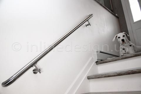stainless steel Virginia Round Glass Railing handrail