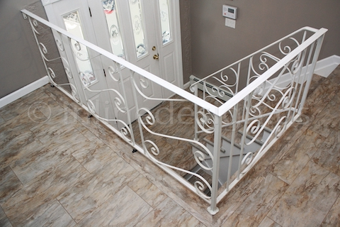 stainless steel cable railing before
