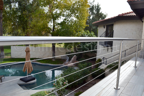 cable railing pool