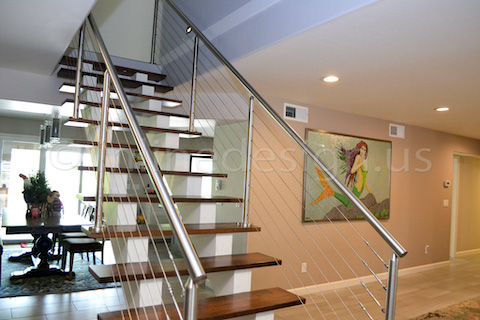 cable railing stairway