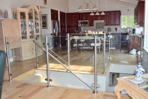 railing glass living room