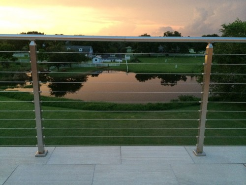 stainless steel cable railing front