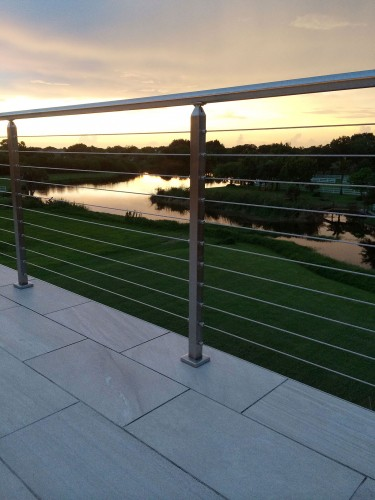 stainless steel cable railing sun river