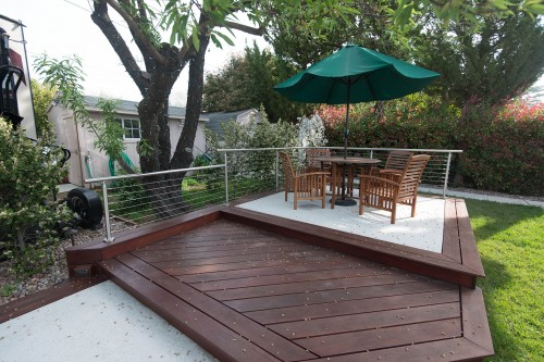 stainless steel cable railing outdoor