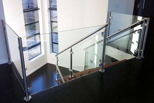 stainless steel glass railing stairs los angeles