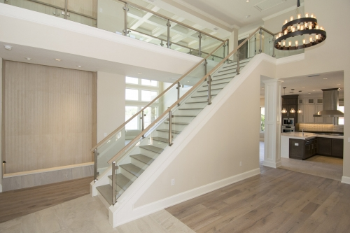 stainless steel railing glass Florida