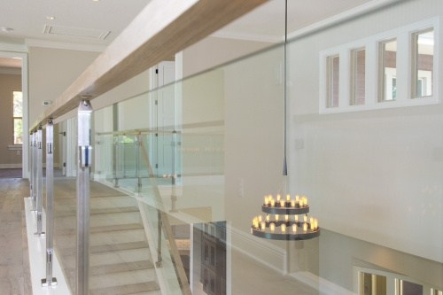 stainless steel railing glass commercial