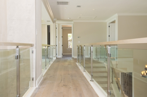 stainless steel railing glass handrail
