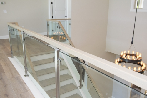 stainless steel railing glass indoor