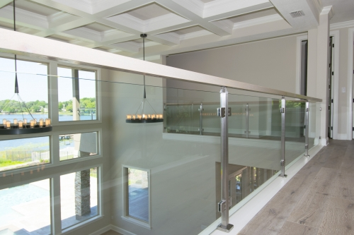 stainless steel railing glass outdoor