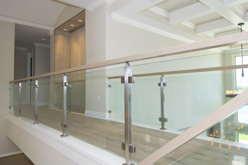 stainless steel railing glass pool