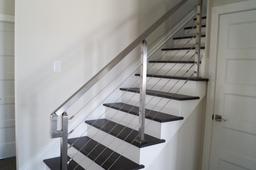 stainless steel beach cable railing interior