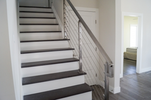 stainless steel beach cable railing living