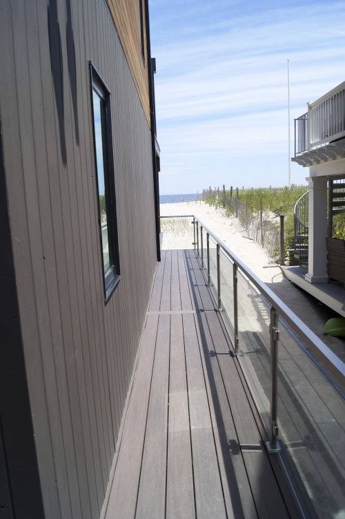 stainless steel beach cable railing side