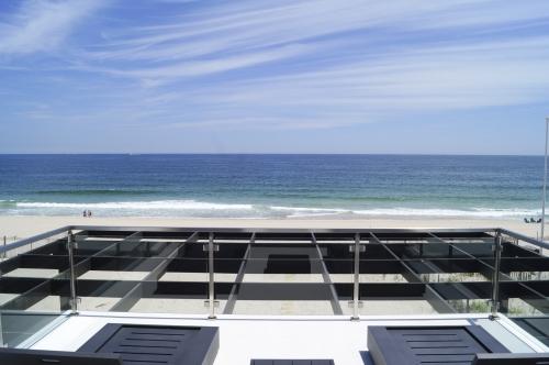 stainless steel beach cable railing sky