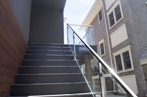 stainless steel beach cable railing stairs