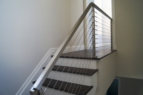 stainless steel beach cable railing upstairs