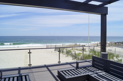 stainless steel beach cable railing view