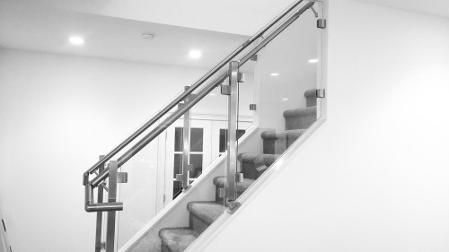 stainless steel glass railing chicago style