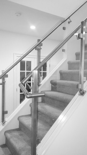 stainless steel glass railing flush angle