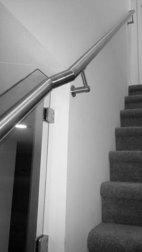 stainless steel handrail wall bracket round