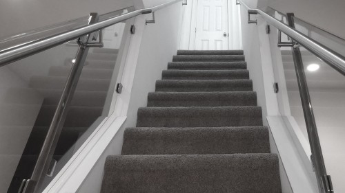 stainless steel round tube stairs