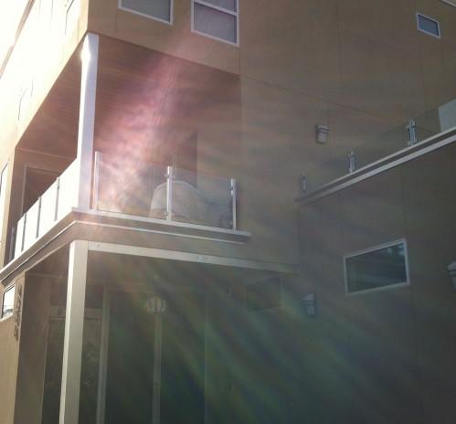 stainless steel glass railing balcony