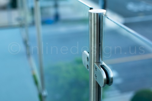 stainless steel railing glass clamp bracket