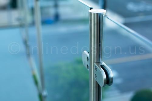 stainless steel railing glass clamp bracket