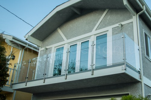 stainless steel railing glass side mounted beach