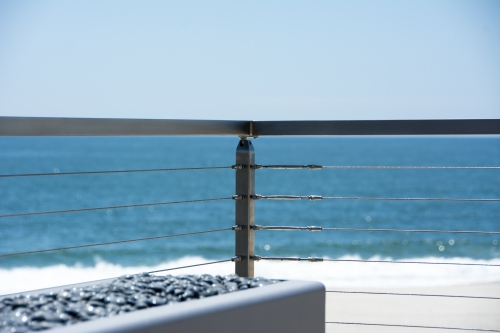 stainless steel cable railing lounge
