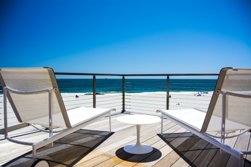 stainless steel cable railing ocean