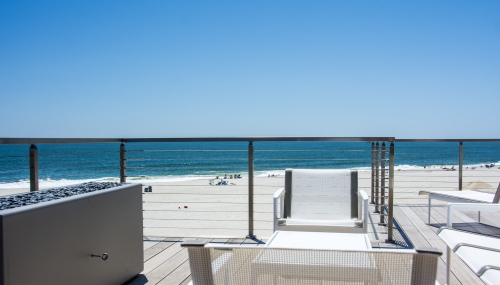 stainless steel cable railing waterfront