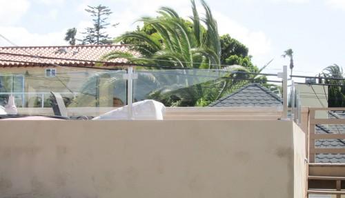 stainless steel glass railing beach