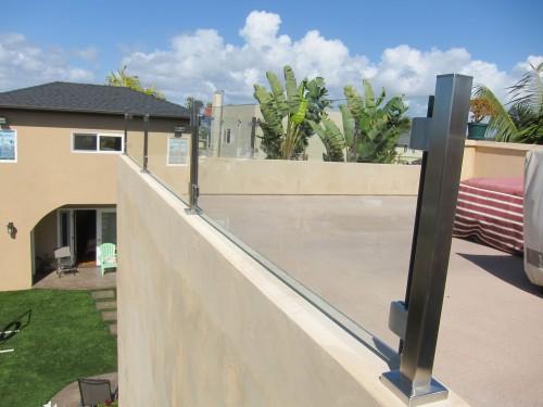 stainless steel glass railing california