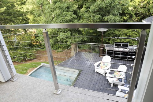 stainless steel cable railing chairs