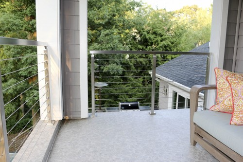 stainless steel cable railing cottage