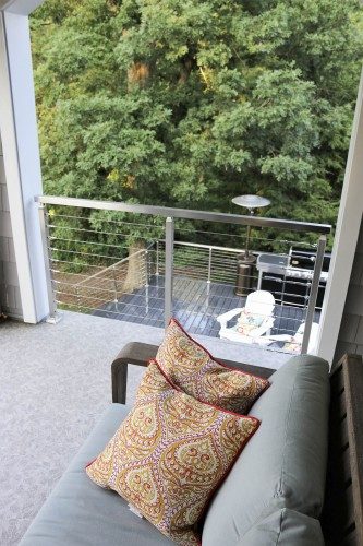 stainless steel cable railing couch