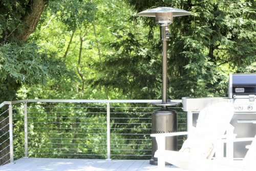 stainless steel cable railing heater