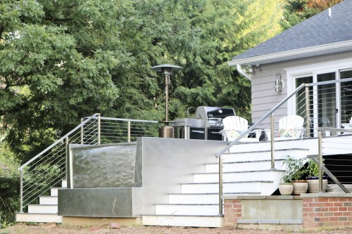 stainless steel cable railing jacuzzi